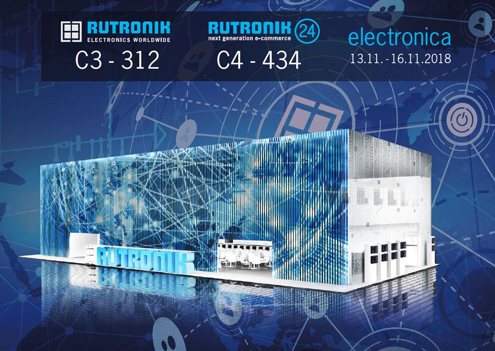 rutronik at electronica 2018 hall c3 312 and hall c4 434 rutronik